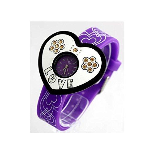 Zeigt Damen Armband Silikon Violett 524