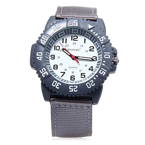 Leopard Shop Weipeng Unisex Quarzuhr Luminous Doppelskala arabischen Zahlen Wasser Widerstand Armbanduhr 2