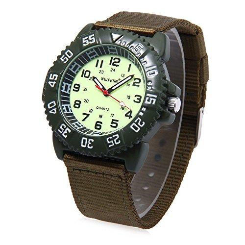 Leopard Shop Weipeng Unisex Quarzuhr Luminous Doppelskala arabischen Zahlen Wasser Widerstand Armbanduhr 4
