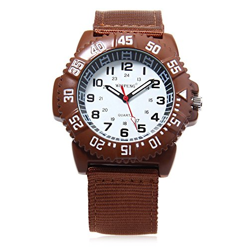 Leopard Shop Weipeng Unisex Quarzuhr Luminous Doppelskala arabischen Zahlen Wasser Widerstand Armbanduhr 1