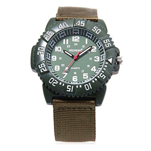 Leopard Shop Weipeng Unisex Quarzuhr Luminous Doppelskala arabischen Zahlen Wasser Widerstand Armbanduhr 5