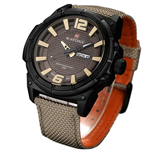 yisuya Military Armbanduhr Herren Quarz Analog Uhr Nylon Leinwand Gurt Uhr Mann Sport Uhren Armee Luxus Marke