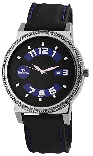 TimeTech Analog Silikon 49 mm Anthrazit Schwarz 227673000007