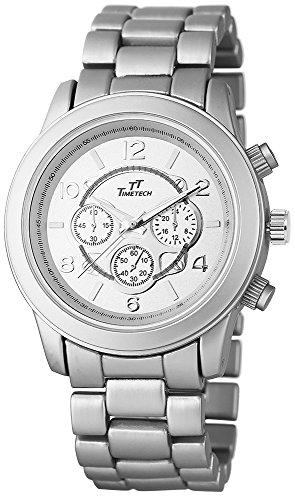 TimeTech Unisexuhr mit Metallarmband silberfarbig Armbanduhr Uhr 227522500002