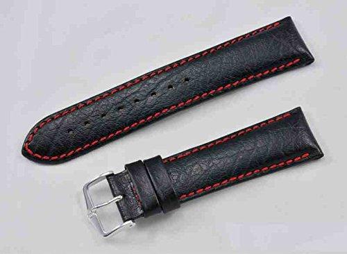 Hirsch Jumper 24 mm schwarz rote Naht