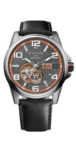 Tommy Hilfiger Herren-Armbanduhr Casual Sport XL Analog Automatik Leder 1790907