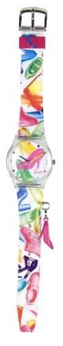 Barbie Maedchen-Armbanduhr Analog Plastik mehrfarbig 25092