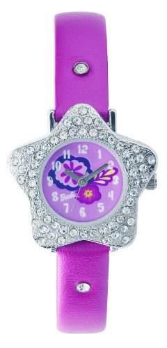Barbie Maedchen-Armbanduhr Analog Quarz Plastik B201