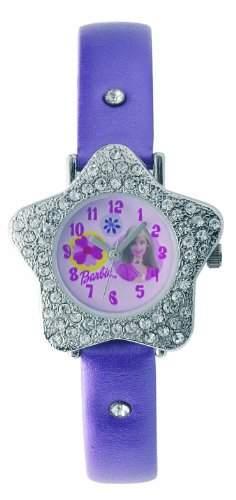 Barbie Maedchen-Armbanduhr Analog Quarz Plastik B202