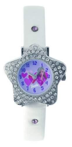 Barbie Maedchen-Armbanduhr Analog Quarz Plastik B203