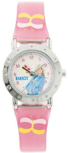 Barbie Maedchen-Armbanduhr Analog Quarz Plastik B392