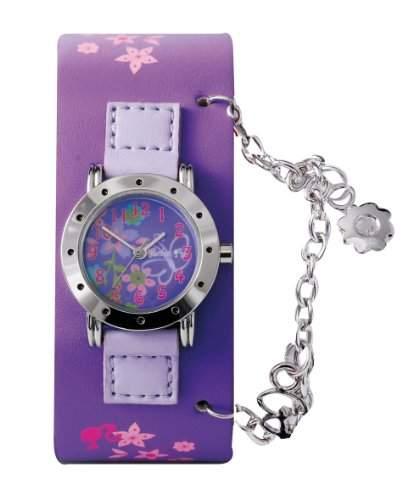 Barbie Maedchen-Armbanduhr Analog Quarz Plastik B713