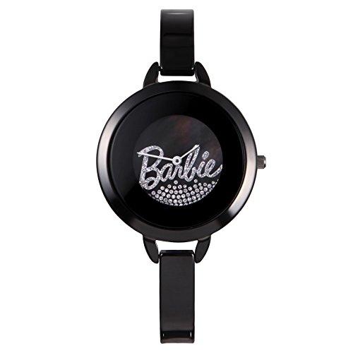 Barbie dekorativer Armband Keramik Armbanduhr Quarz Analog Uhr Schwarz W50266L 03A