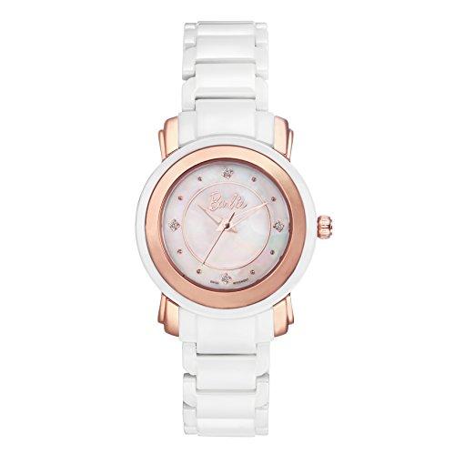 Barbie Damenuhr dekorativer Armband Keramik Armbanduhr Quarz Analog Uhr Weiss W50330L 02A