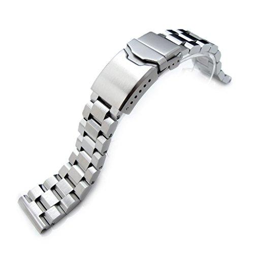 22 mm hexad Oyster 316L SS Armbanduhr Band gerade Ende Lug Button Entgratung Schliesse gebuerstet