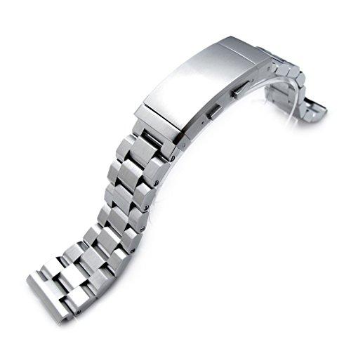 22 mm hexad Oyster 316L SS Armbanduhr Band gerade Ende Lug Neoprenanzug Ratsche Schnalle gebuerstet