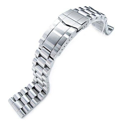 22 mm massiv 316L SS Endmill Metall Armbanduhr Armband gerade Ende Deutschen Schliesse