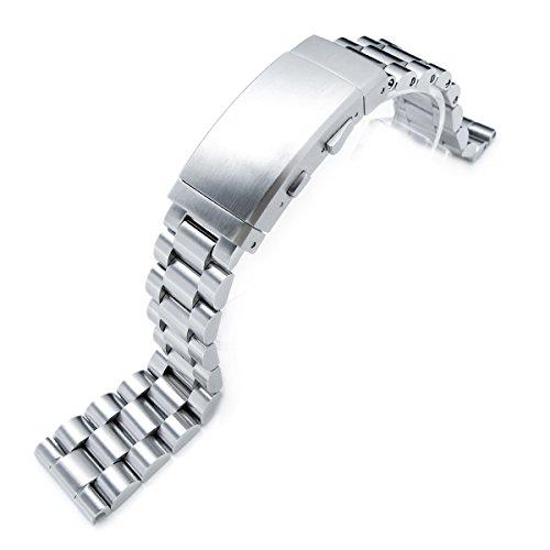 22 mm massiv 316L SS Endmill Metall Armbanduhr Armband gerade Ende Neoprenanzug Ratschenverschluss