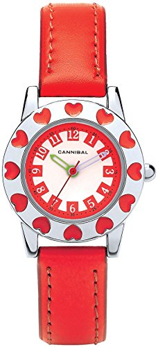 Cannibal Kids rot Armbanduhr Pretty rot Herzen poliert Luenette Weiss Zifferblatt CJ270 06