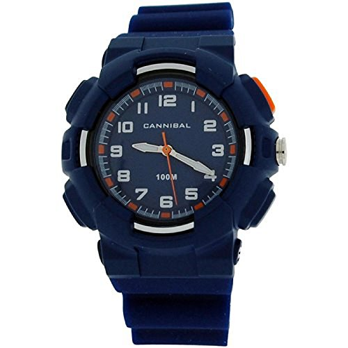 Cannibal Active Jungen Armbanduhr weiss Zifferblatt Backlight Display blaues Kunststoffband CJ272 05