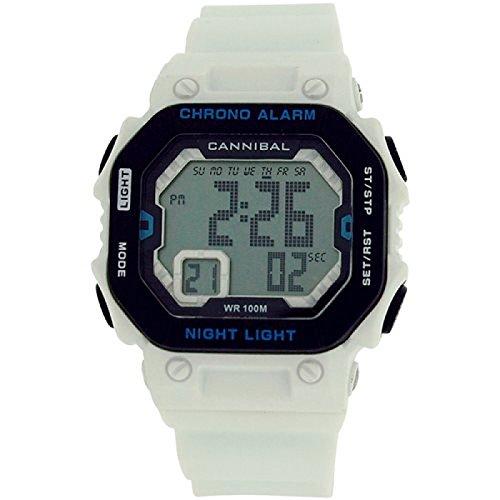 Cannibal Jungen Teen Digital Chronograph Weiss Silikon Armbanduhr cd276 09