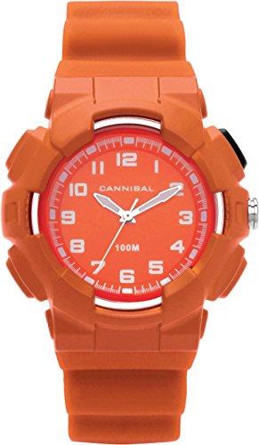 Cannibal Active Jungen weiss Zifferblatt 30 orange Kunststoff Armbanduhr cj272 09