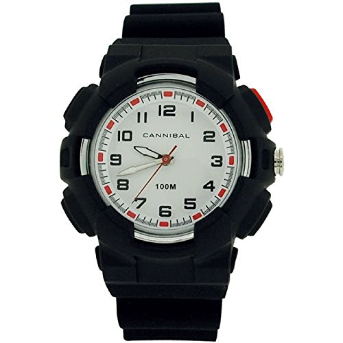 Cannibal Active Jungen weiss Zifferblatt 30 schwarz Kunststoff Armbanduhr cj272 01