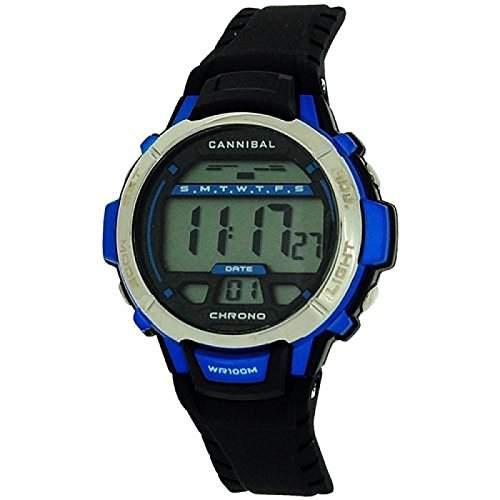Cannibal Active Jungen Digitalchronograph, blauschw Plastikarmband CD261-06