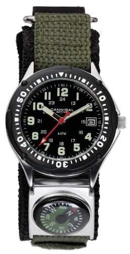 Cannibal Herren-Armbanduhr Analog Nylon gruen CG146-03