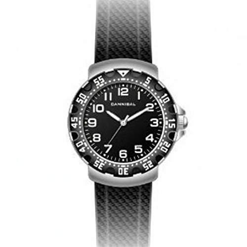 Cannibal Unisex-Armbanduhr Analog Kunststoff schwarz CJ091-03