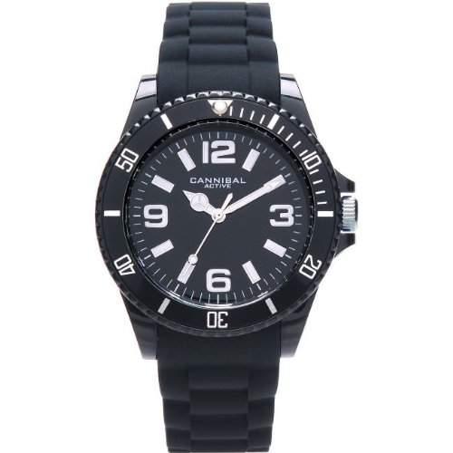 Cannibal Unisex-Armbanduhr Analog Silikon schwarz CJ209-03