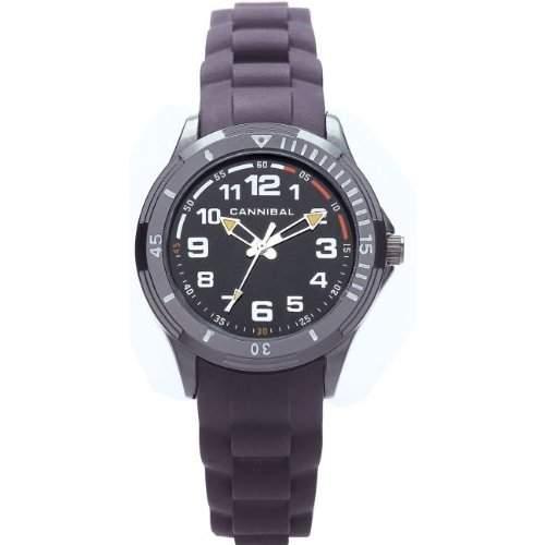 Cannibal Jungen-Armbanduhr Analog Silikon schwarz CJ219-07