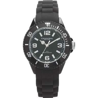 Cannibal Unisex-Armbanduhr Analog Silikon schwarz CK215-03