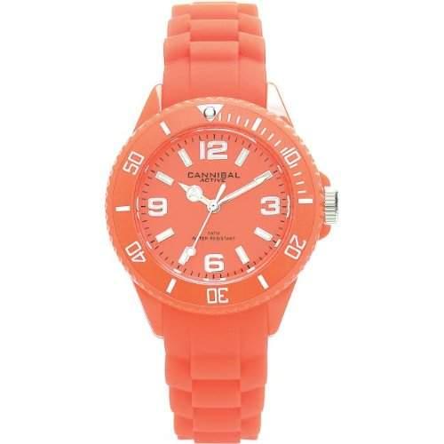 Cannibal Unisex-Armbanduhr Analog Silikon orange CK215-26