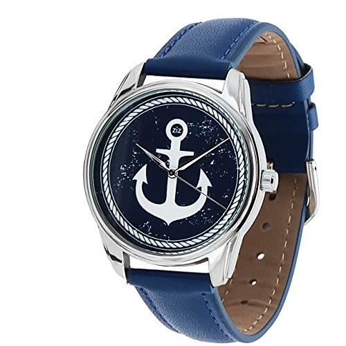 Zeigt originelle Armband blau Leder Marin