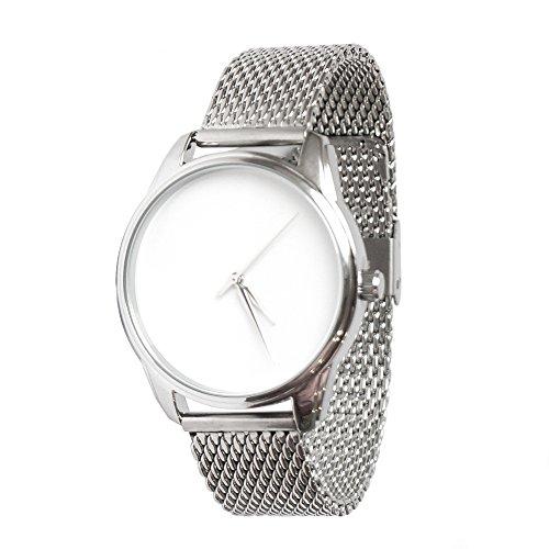 Zeigt weisser Armband aus Metall White Silver
