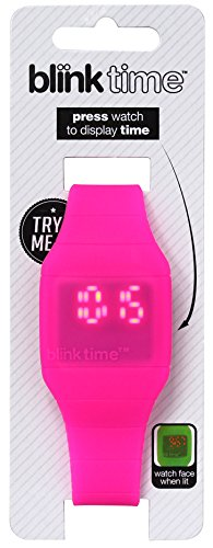 Blink Time Energiesparende Armbanduhr Pink