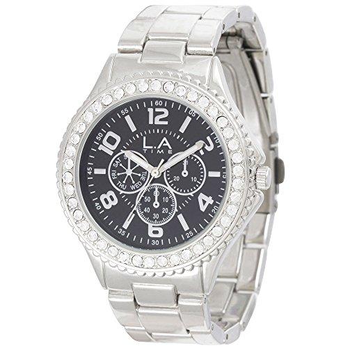 LA Time Damen Armbanduhr Analog Quarz Edelstahl LA009L