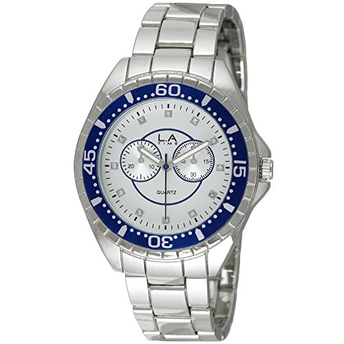 LA Time Herren Armbanduhr Analog Quarz Silber LA 101G