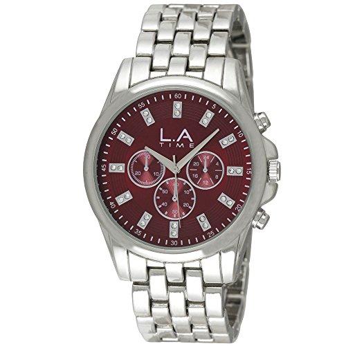 LA Time Herren Armbanduhr Analog Quarz Silber LA 109G