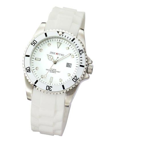 Zeeme Watches XL Analog Silikon weiss Datum 468000002 1