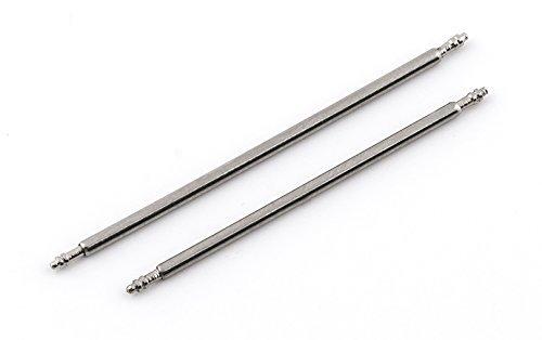 Buran01 1 Paar Edelstahl Federstege 1 78 mm Durchmesser Federstifte Stege Uhren Stifte 30 mm