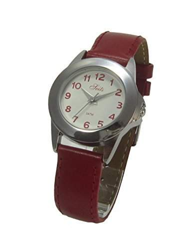 Seits Maedchen - Armbanduhr Analog Quarz - 3 bar Leder Rot 581103r