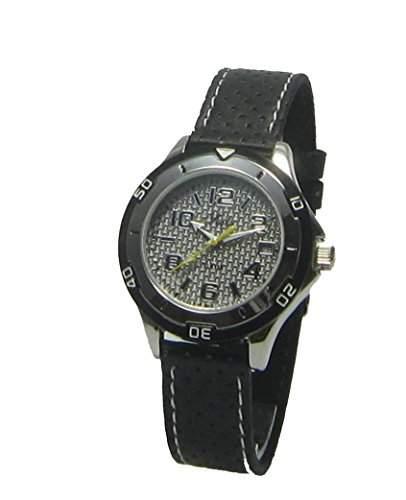 Seits Jungen-Armbanduhr Analog Quarz Leder 10 bar Kalender 582162h