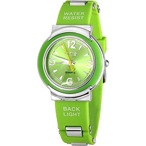ACME Maedchen Damen Armbanduhr Analog Quarz Silikon Wasserdichtheit 3 bar Gruen 231