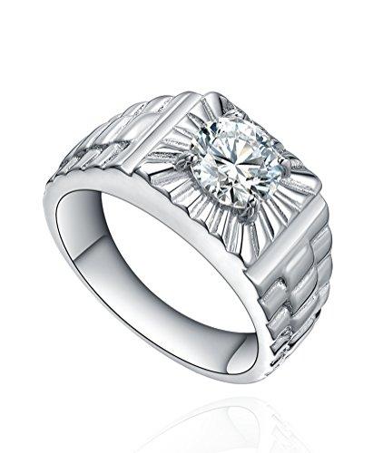 Edelstahl Herren Ring Zirkonia Uhr Stil Ring