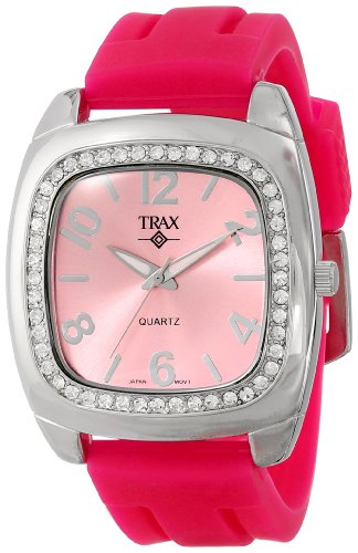 Trax Damen TR1740 PP Malibu Fun Pink Rubber Rosa Dial Quarzuhr