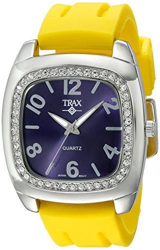 Trax Damen TR1740 NY Malibu Fun Yellow Rubber Blue Dial Quarzuhr