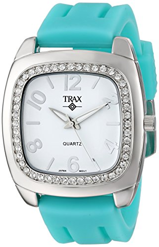 Trax Damen TR1740 WTQ Malibu Fun Turquoise Rubber White Dial Quarzuhr