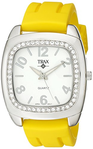 Trax Damen TR1740 WY Malibu Fun Yellow Rubber White Dial Quarzuhr